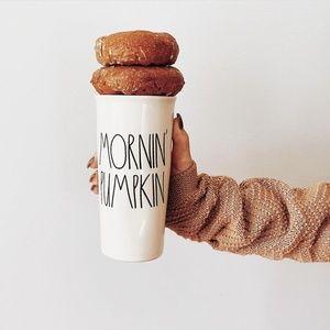 NWT RAE DUNN MORNIN' PUMPKIN COFFEE TUMBLER